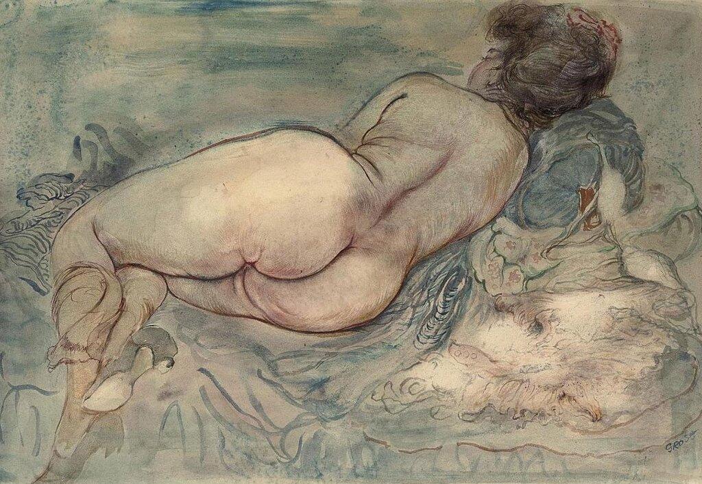 George-Grosz-Resting-Female-Nude