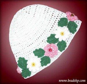 Летняя шапочка для девочки схема фото 755