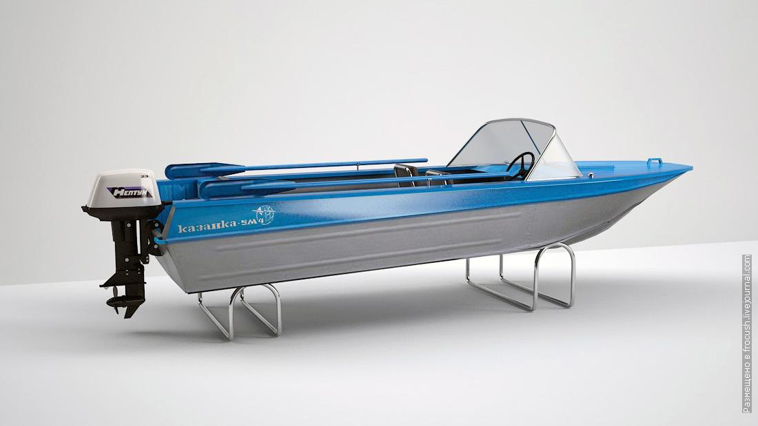 моторная лодка Казанка 3D модель