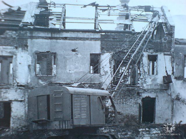 Слом старых домов в центре