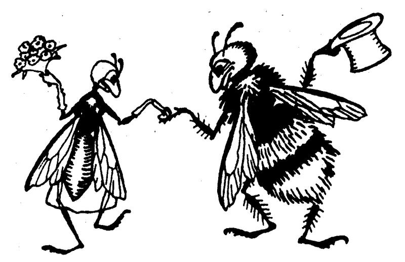 мушка и шмель