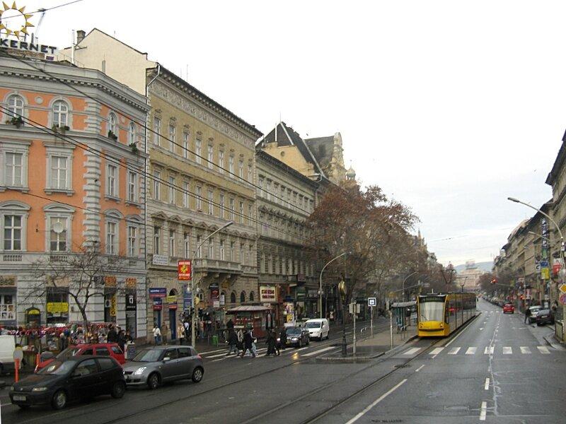 Budapest. Pest, winter