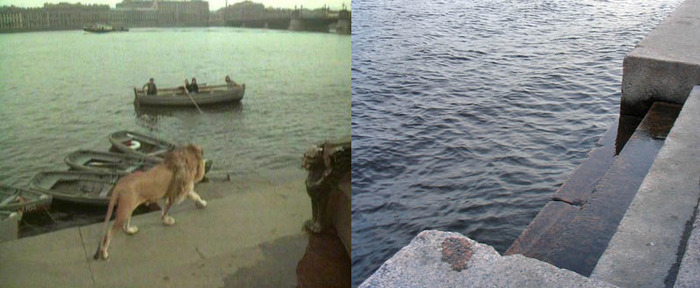 61. Герои же решили поплавать на лодке. Лев решил проследить.
