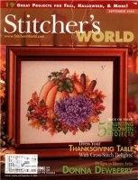 Книга Stitchers World - September 2005 jpg 68Мб
