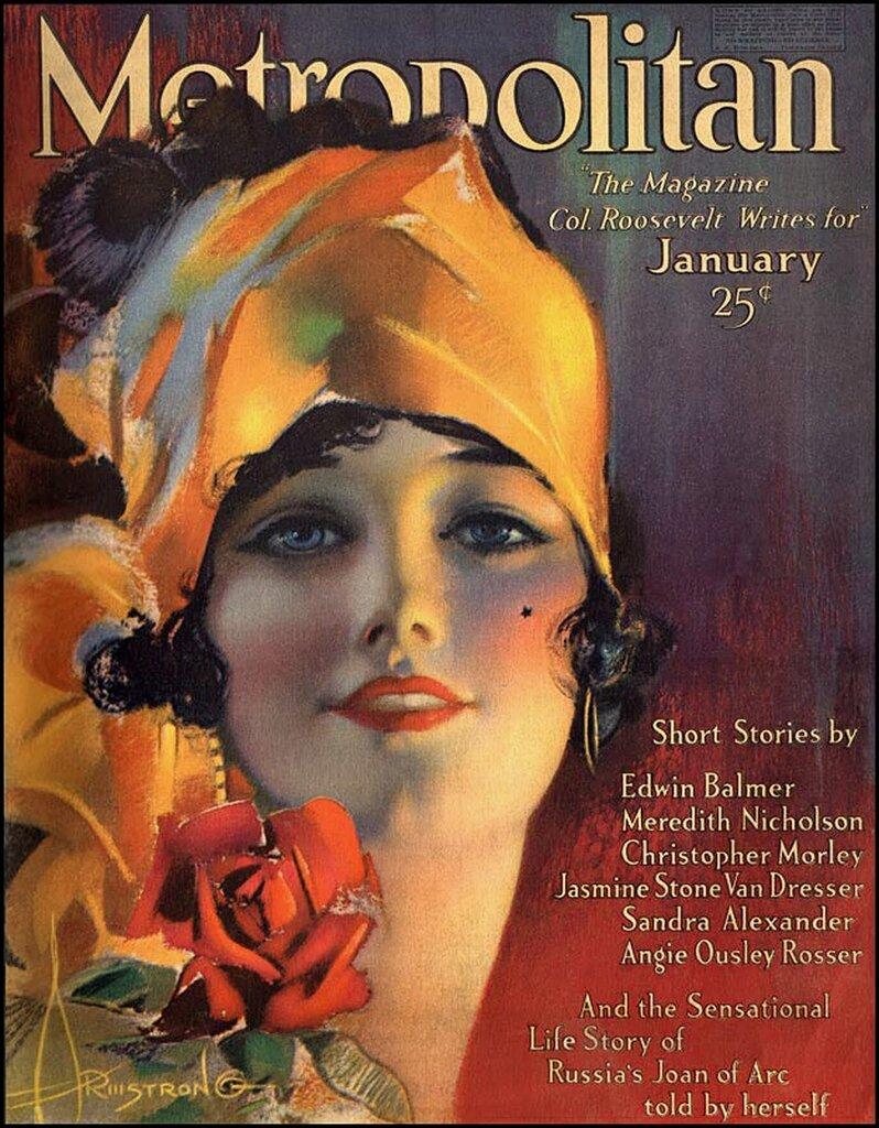 Metropolitan Magazine cover, 1919, Rolf Armstrong