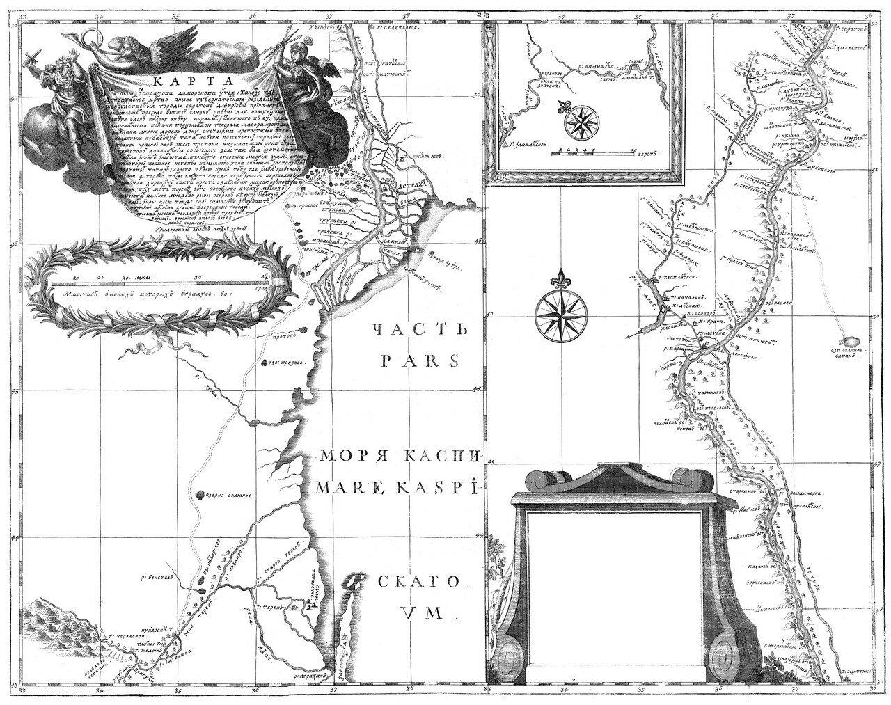 34. Карта Волги от Саратова до морского устья