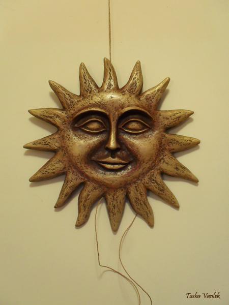 солнце из папье-маше