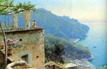 "The Ravello Coastline1926Oil on canvas61.2 x 40.6 cm(24.09"" x 15.98"")Private collection"