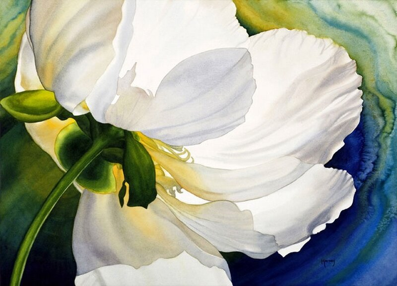 Акварельные цветы от от Marney Ward