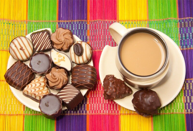 Учителю, картинки с добрым утром цветы кофе конфеты