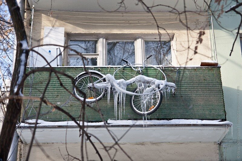 Можно ли хранить велосипеды на балконе зимой.