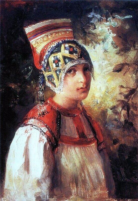 В.Е.Маковский Крестьянка 1897