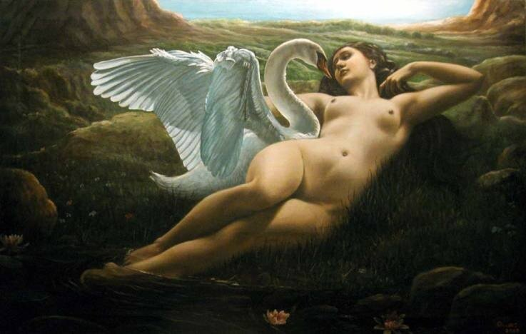 Leda with the Swan by Giovanni Rapiti