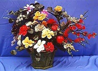 цветы из нефрита