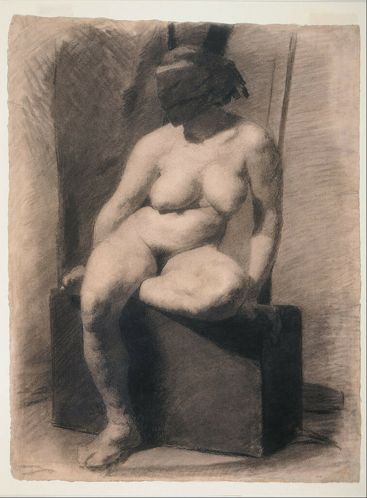 756px-Thomas_Eakins,_American_-_Study_of_a_Seated_Nude_Woman_Wearing_a_Mask_-_Google_Art_Project.jpg ок. 1863-66.jpg