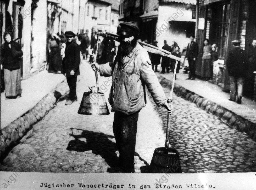 Jьdischer Wassertrдger Wilna / 1915 - Jewish water-bearer Wilna / 1915 -