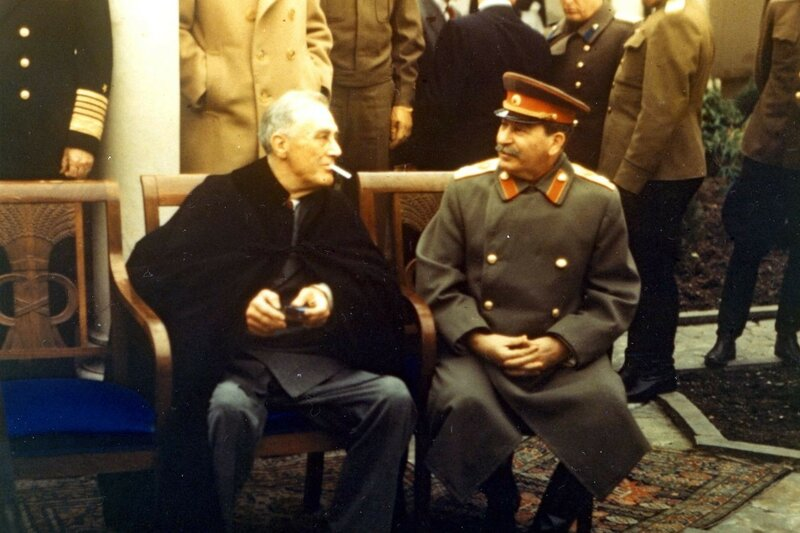 Roosevelt and Stalin at the Yalta conference in 1945. Photo by PhotoQuest.jpg