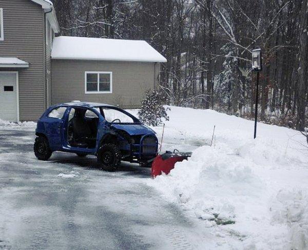 Изобретательный подход к уборке снега