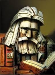 День библиотек. Мыслитель с книгой из книг открытки фото рисунки картинки поздравления