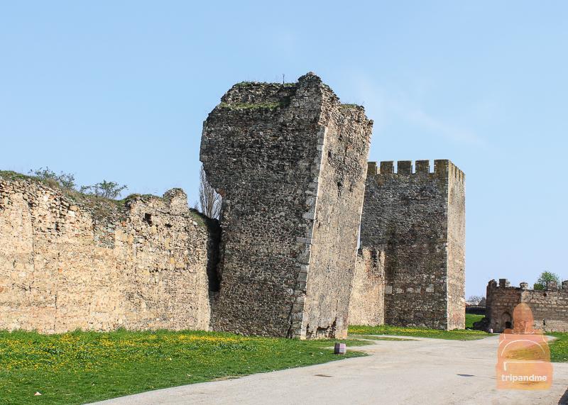 Вид на крепость в Смедерево