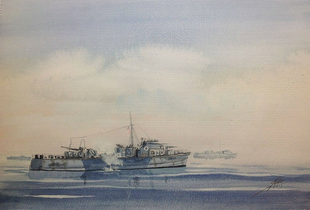 Ambush! Fairmile C class MGBs waiting for the mist to clear.