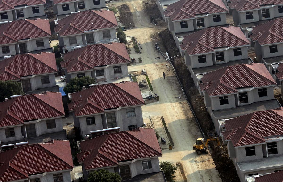Современные дома в Китае в частном секторе.