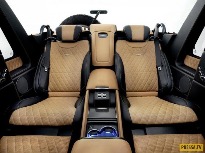 Landaulet G650 имеет около 60 см дорожного просвета. Салон оснащен стеклянной перегородкой наподобие