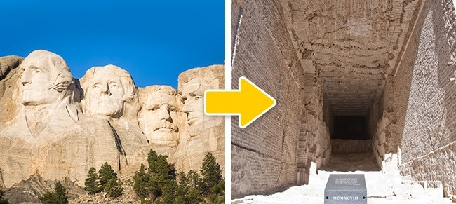 © Thomas Hawk/flickr  © npc  Помимо портретов четырех президентов, в горе Рашмор высече