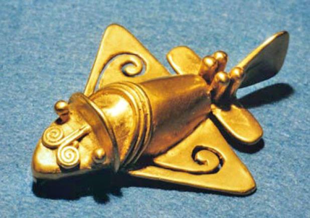 6. Загадочные самолеты Вот такая необычная статуэтка была обнаружена в Колумбии. Считается, что это