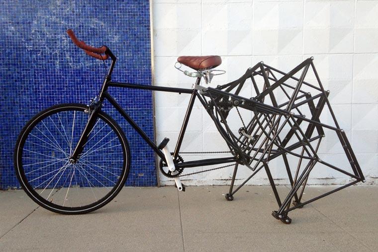 Walking Bicycle - A strange bike walking on four legs