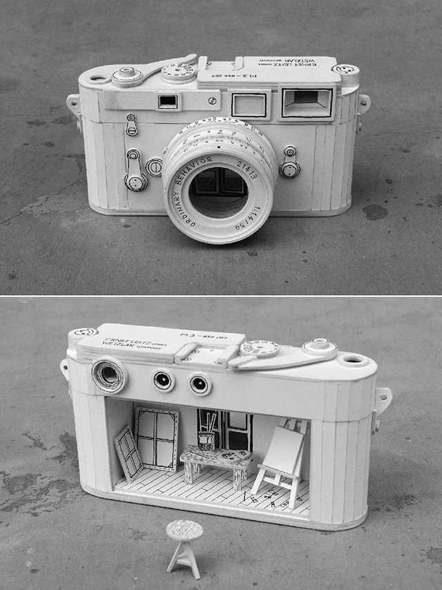 Ordinary Behavior: Cardboard Electronics Containing Absurd Miniature Dioramas (4 pics)