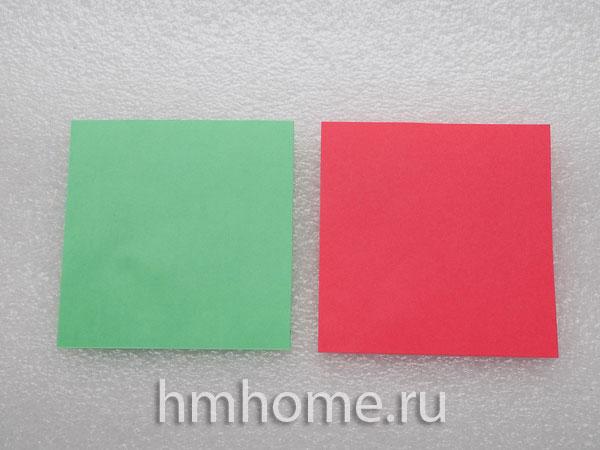 Пуансеттия: рождественская звезда в технике оригами