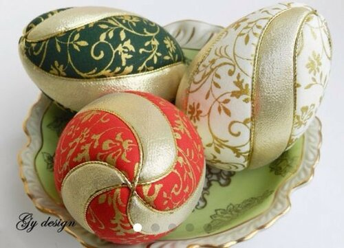 Печворк яиц без иглы