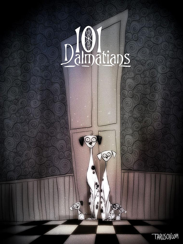 What if Tim Burton had directed all the Disney classic movies?