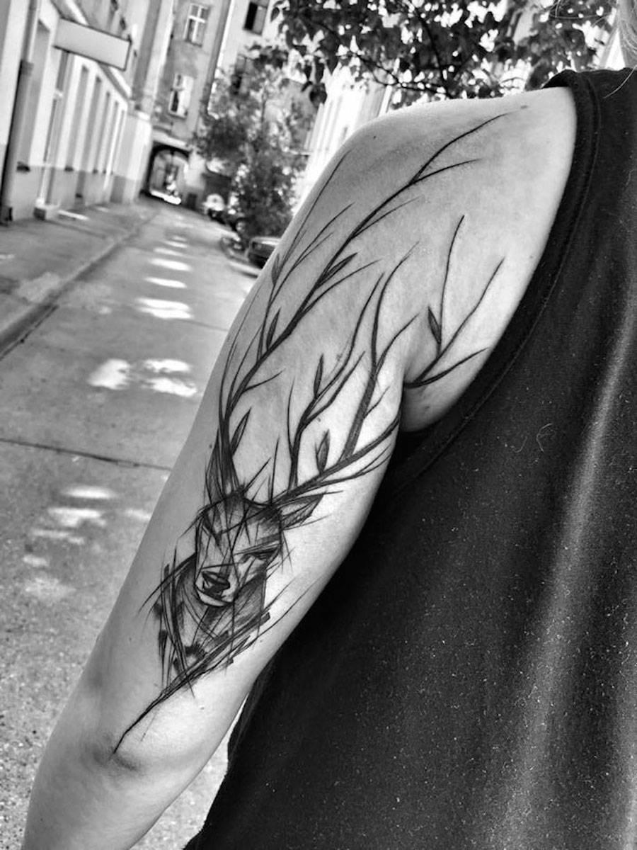 Impressive Black and White Sketch Tattoos