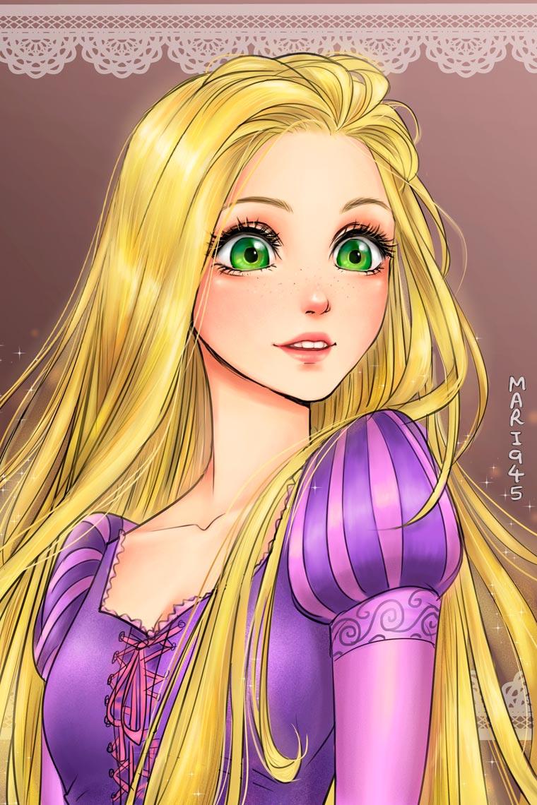 Si les princesses Disney etaient des personnages de manga