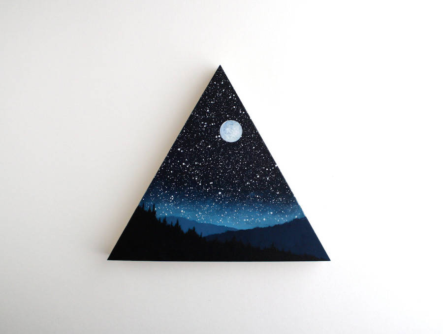 Impressive Miniature Paintings of Starry Nights