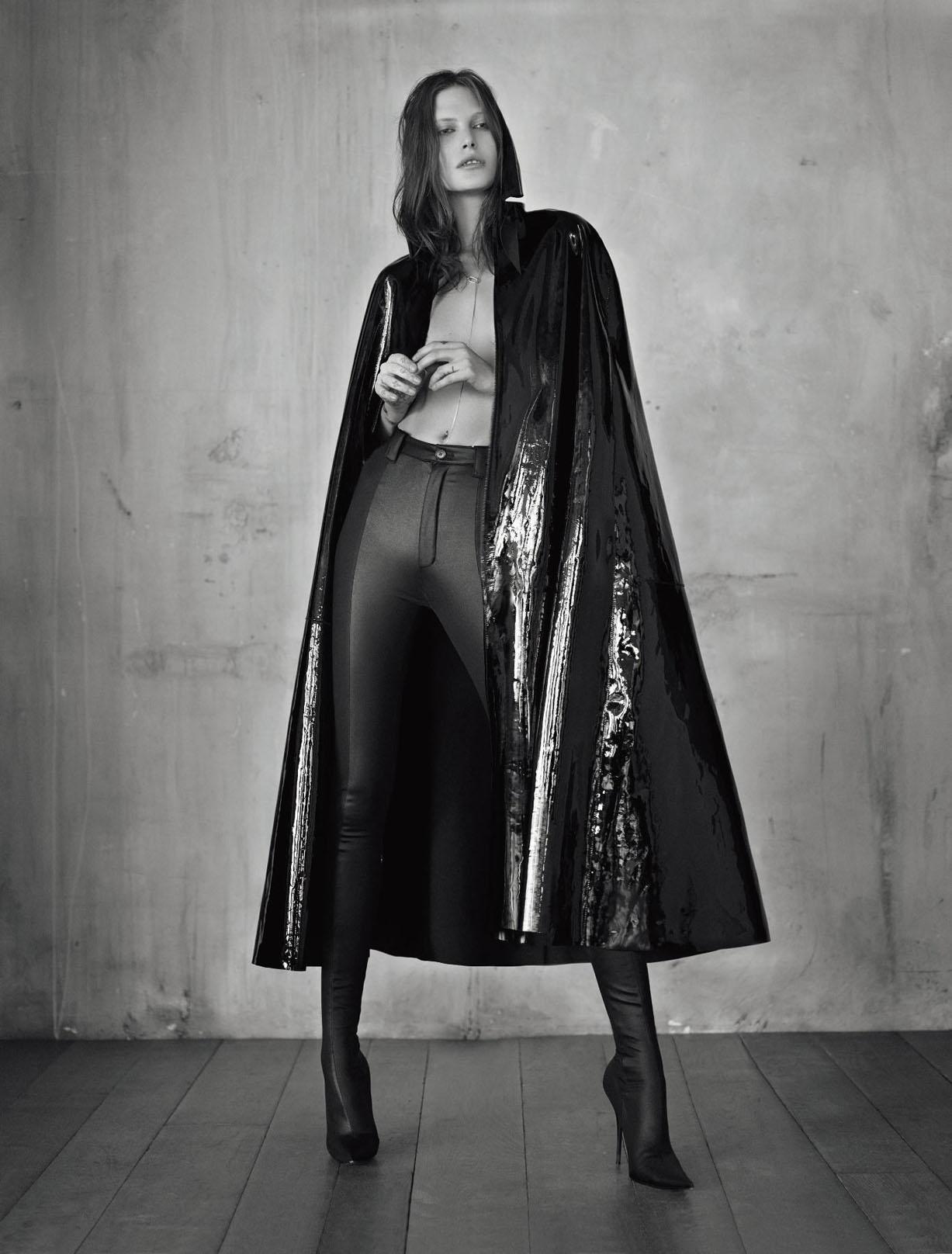 воинственная и сексапильная кожа - Кэтрин Макнил в журнале Numero Magazine february 2017 - Catherine McNeil by Jean-Baptiste Mondino