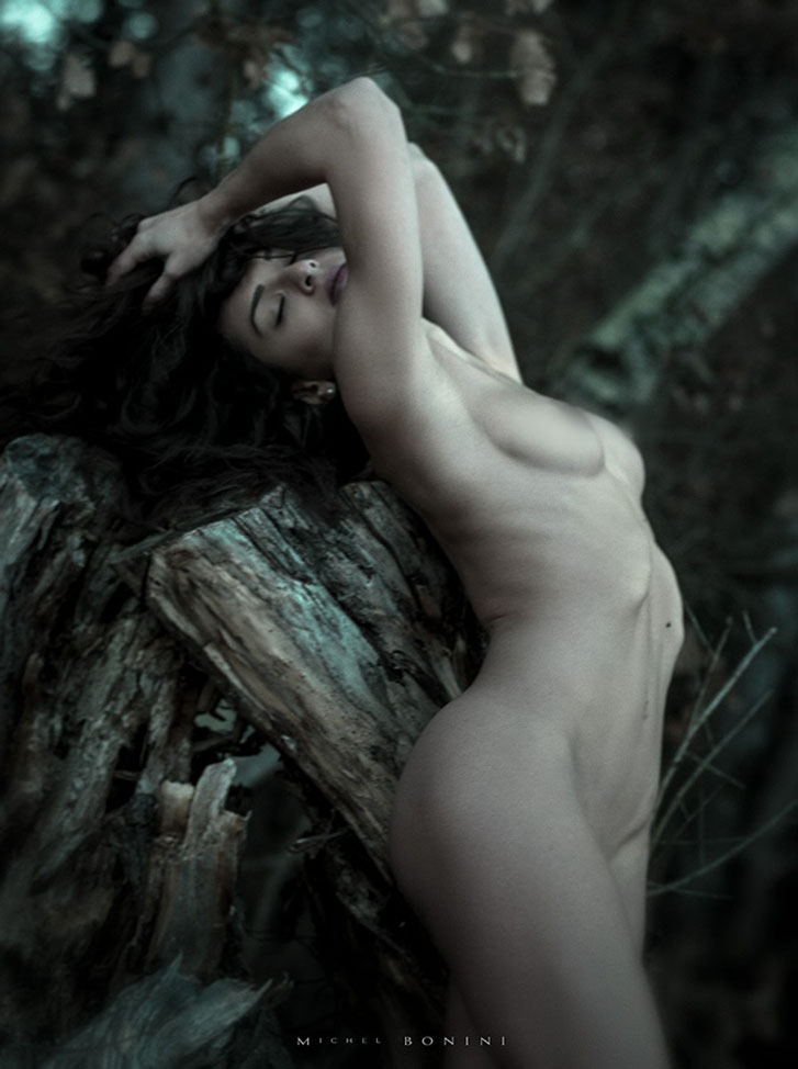 голая в лесу - Элайя Ка / Eliya Ca nude by Michel Bonini - Back to Wild