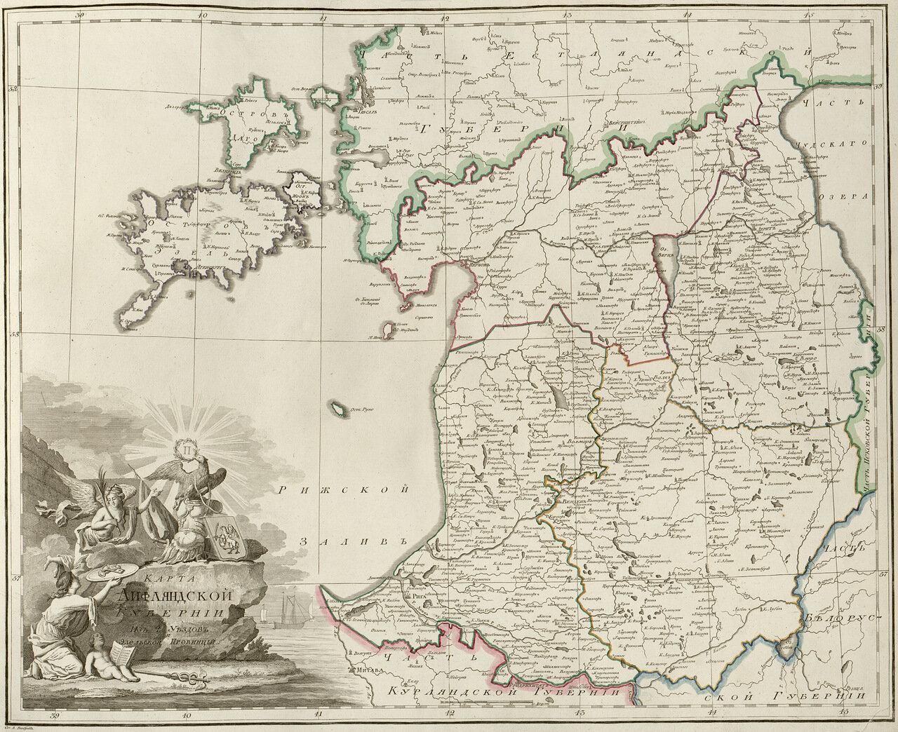 04. Карта Лифляндской губернии