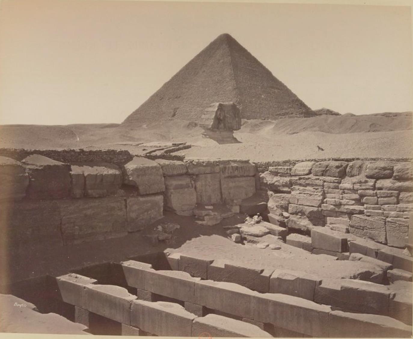 Гиза. Храм Хефрена, Сфинкс и Пирамиды