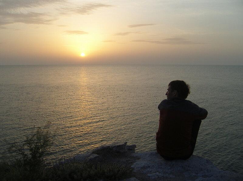 Казантип. Азовское море на закате