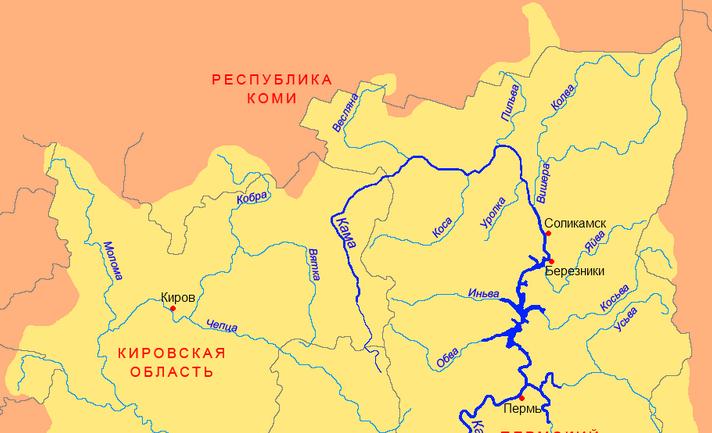 впадает река Колва .