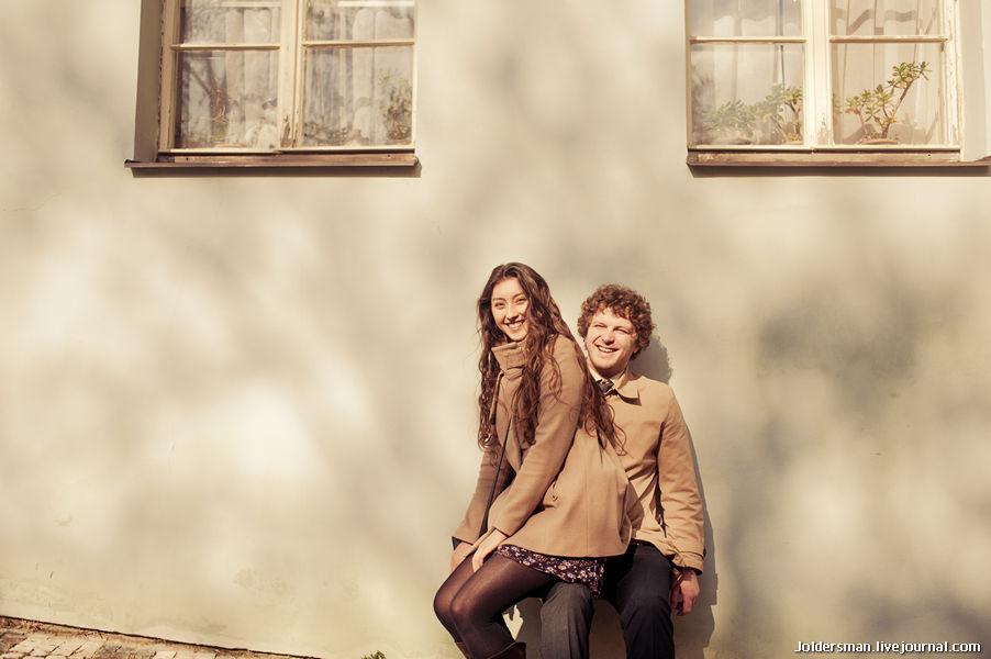 Влюбленные в Праге - свадебное путешествие