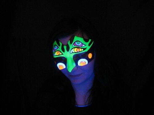 Маска карнавальная флуоресцентная Grrammulka.art