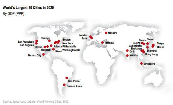 30 самых перспективных для инвестиций мегаполисов мира. Прогноз на 2020 год