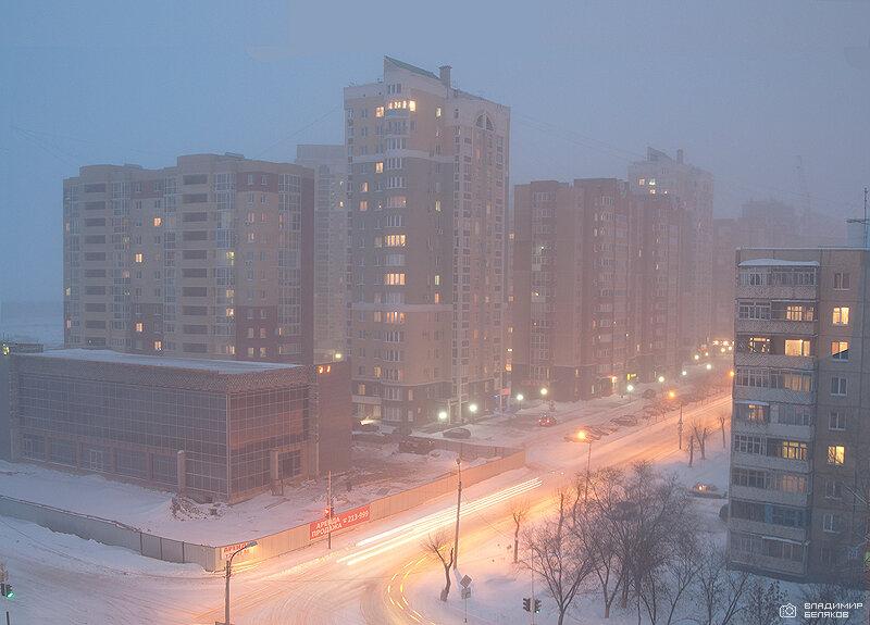 Снегопад в Оренбурге