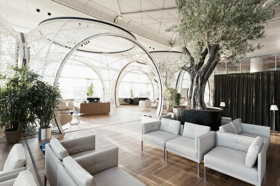 CIP Lounge в Стамбульском аэропорту от студии Autoban