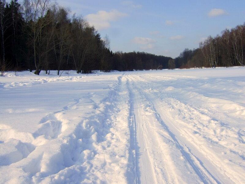 Лыжня на пруду