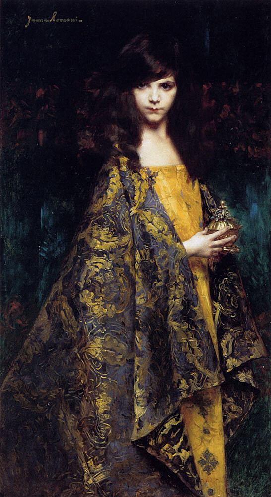 Juana Romani (1869-1924)Portait De Jeune Fille